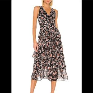 TULAROSA Kyra Dress in EVENING BERRY FLORAL Medium